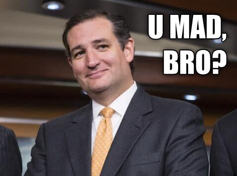 Ted Cruz smiling
